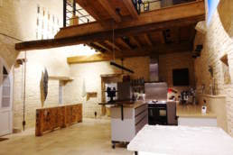 15th century barn conversion - view to kitchen