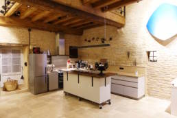 15th century barn conversion view of kitchen