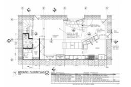 15th century barn conversion and renovation first floor plan drawing