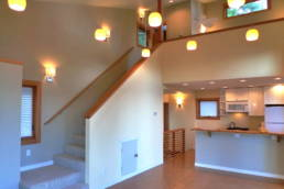 1000sf House- stair to upper and lower bedrooms
