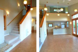 1000sf House- 2 story living & dining room space