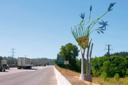 Camas Basket- view from Interstate 5 driving South