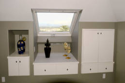 Window / skylight with built in cabinetry