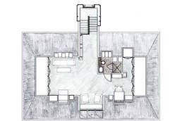 Plan of attic renovation and stair addition