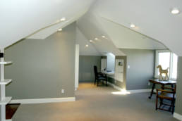 Vaulted attic to open office /guest room space