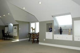 Vaulted Open office / guest room