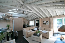 vaulted ceiling open loft living area
