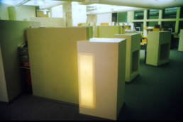 work space partitions with illuminated walls