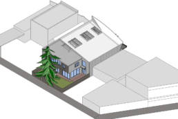 site plan at rear