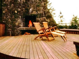 Upper deck an outdoor hearth