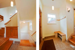Stair to basement and second floor , mudroom
