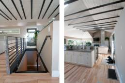 Mid-Century ranch renovation designed and engineered by rhiza A+D Kitchen & stair upgrades