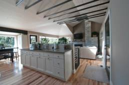 Mid-Century ranch renovation designed and engineered by rhiza A+D view from kitchen