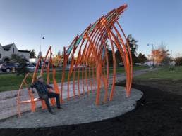 Soundshell Internatural Station , Public Artwork in Shoreline WA. 2020, by rhiza A+D