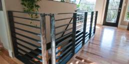 Steel Guard and Handrail designed and built by rhiza A+D